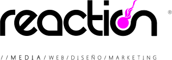 Logo Reaction® Media. Diseño, Web, Marketing en Elche