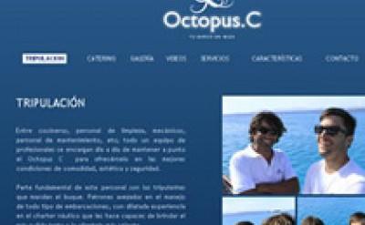 Imagen4 Octopusc Diseño Imagen corporativa y Diseño Web del barco