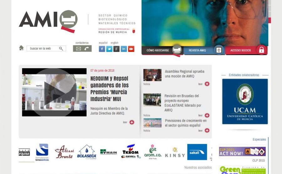 Main picture Rediseño y programación web AMIQ